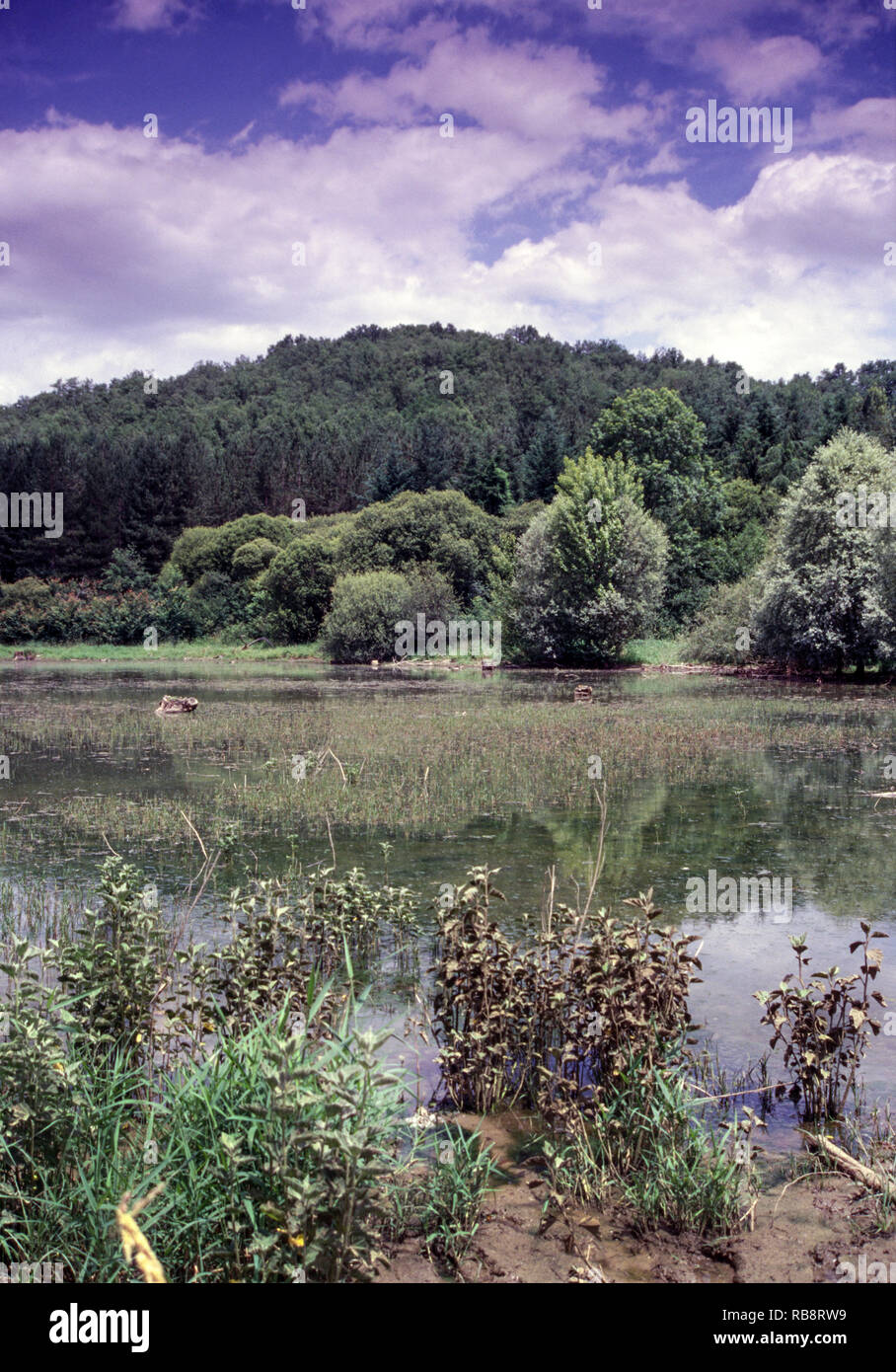 Lake of Meilan in the Department of the Gers. Southwest France. - Stock Image