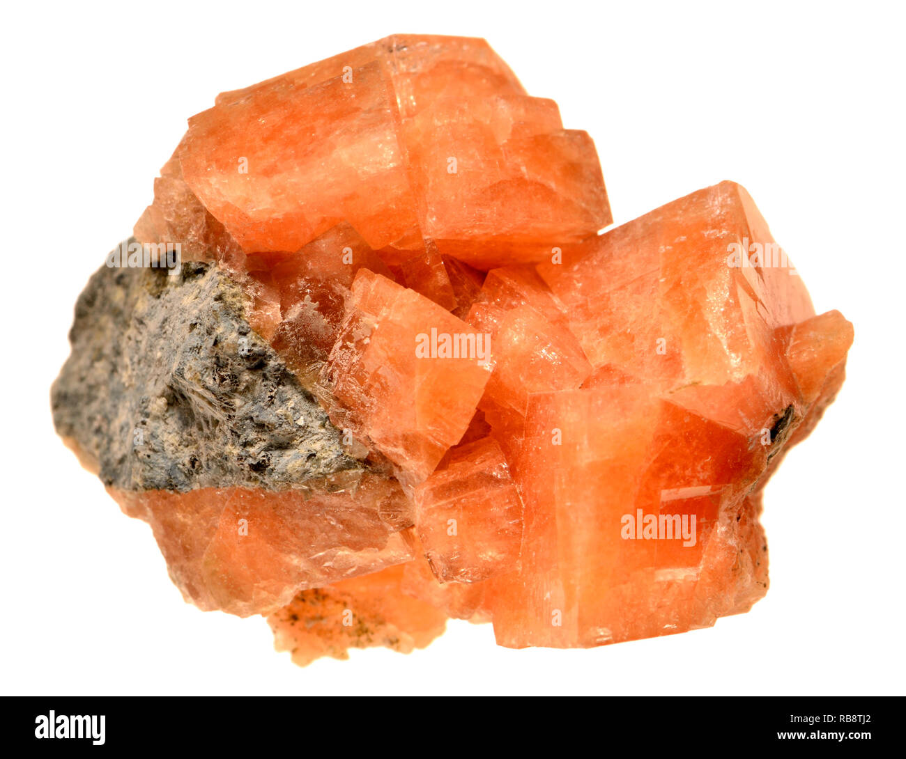 Chabazite crystals - tectosilicate mineral of the zeolite group - Stock Image