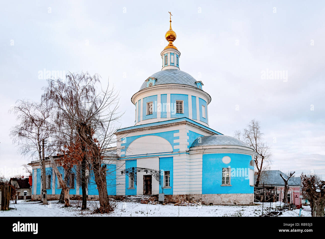 The Church of the Intercession of the blessed virgin Mary Pokrovskaya. Kolomna, Russia. Stock Photo