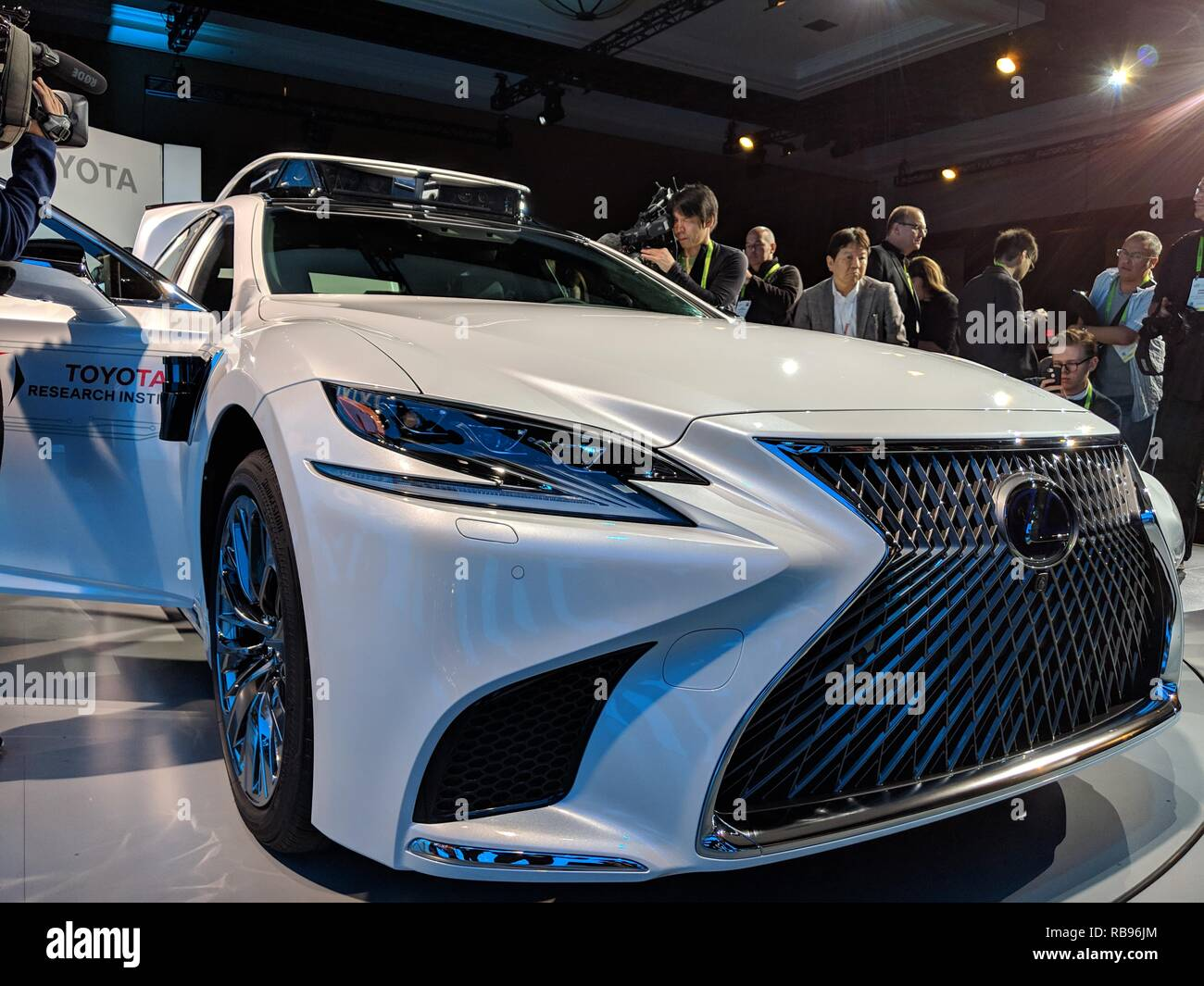 Las Vegas Toyota >> Las Vegas Usa 07th Jan 2019 Toyota Will Present Its New Test Car