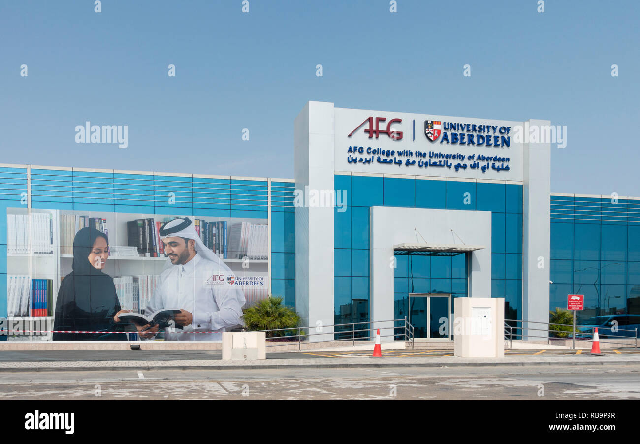 AFG College with the University of Aberdeen Doha , Qatar - Stock Image