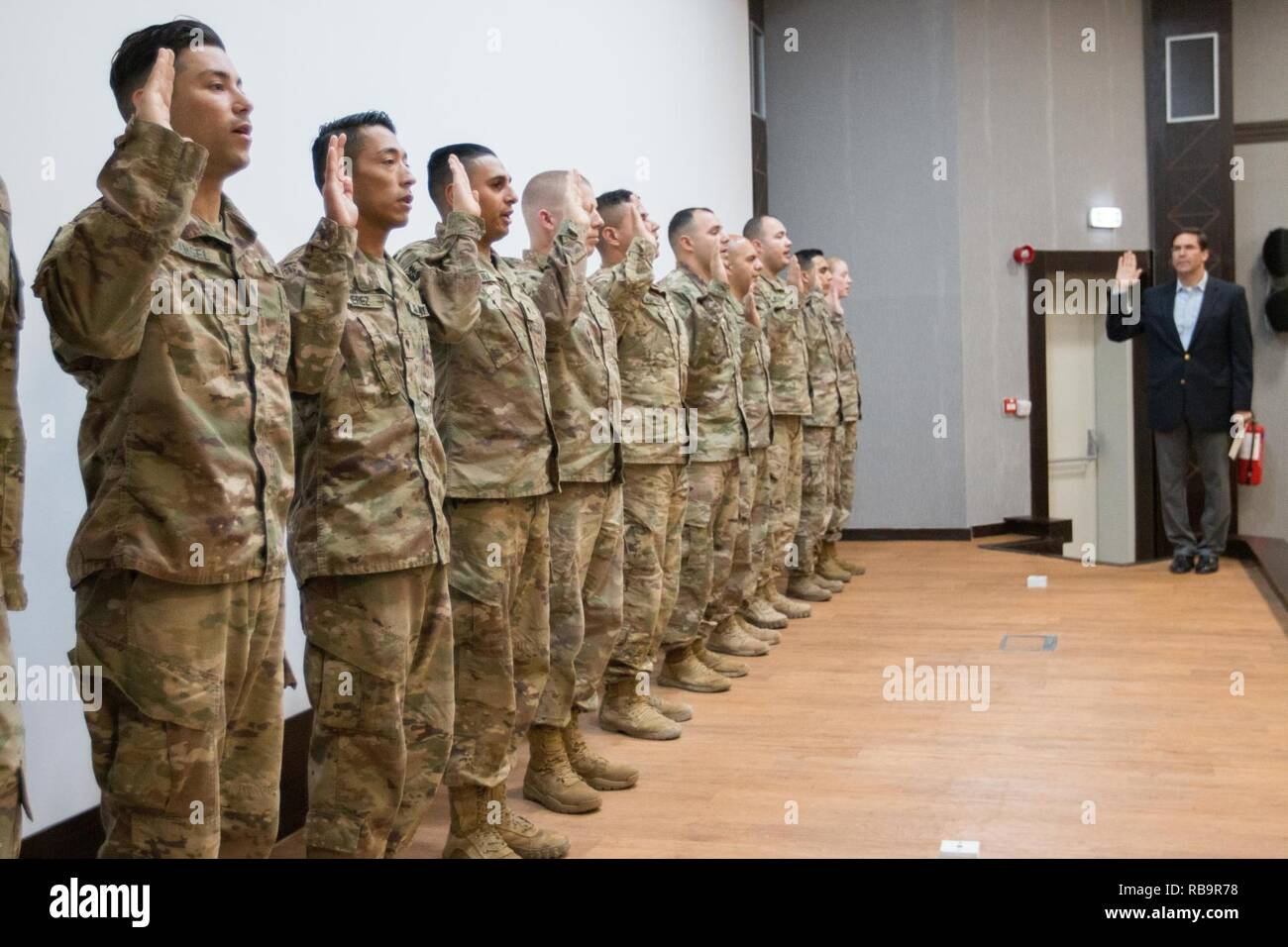 Dr  Mark T  Esper, 23rd Secretary of the Army, gives the