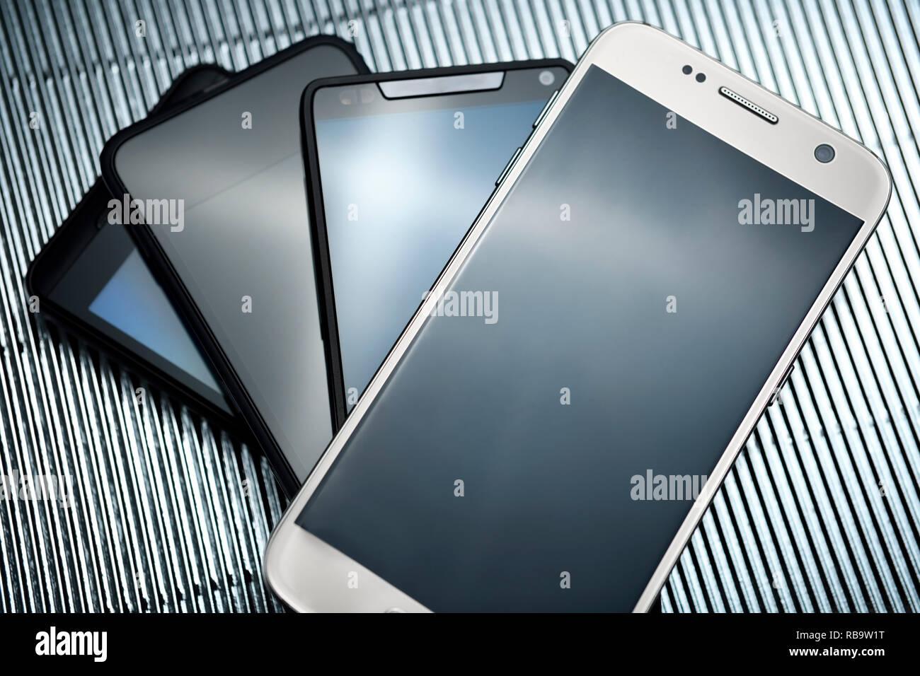 Smartphones - Stock Image