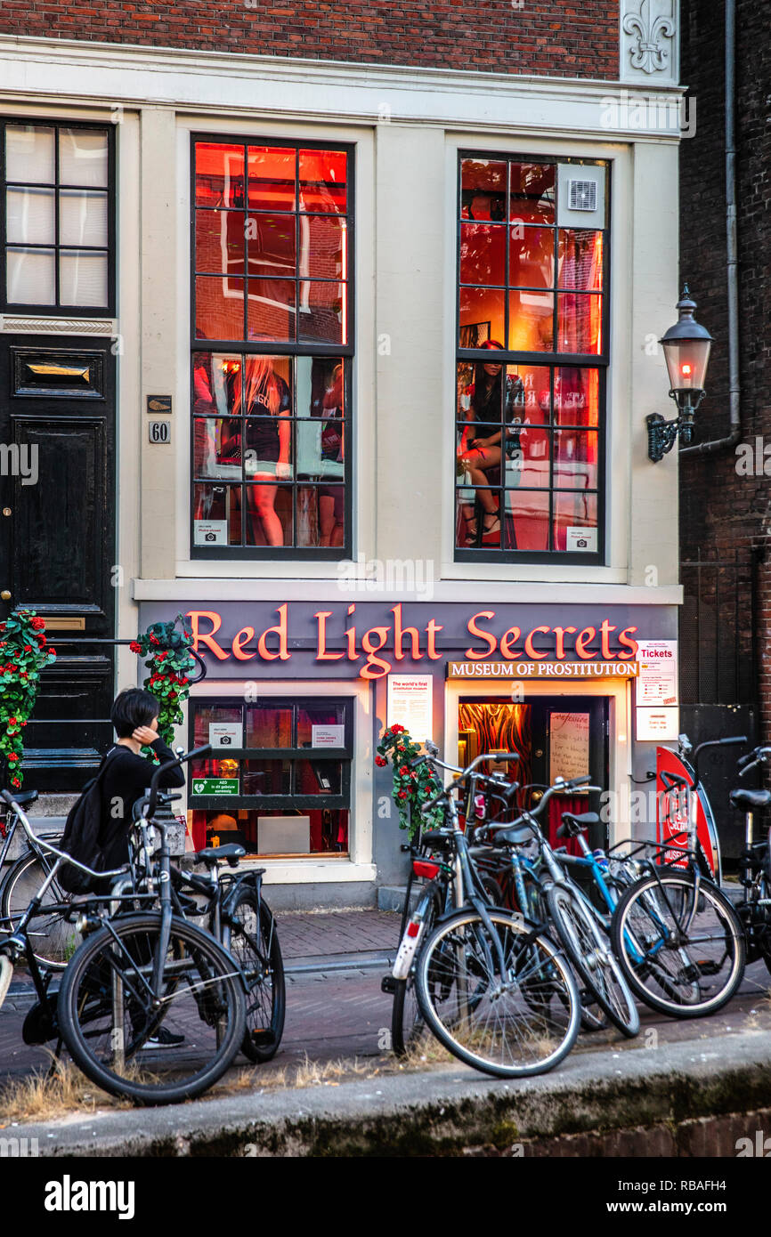 The Netherlands, Amsterdam. Red Light District. Museum of Prostitution called Red Light Secrets. - Stock Image