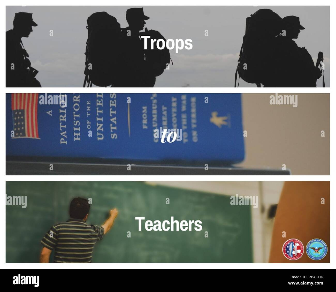 Troops to Teachers (TTT) is a Department of Defense () program that helps put you on the best pathway to begin your next mission of becoming a K-12 public, charter or Bureau of Indian Affairs school teacher. Stock Photo