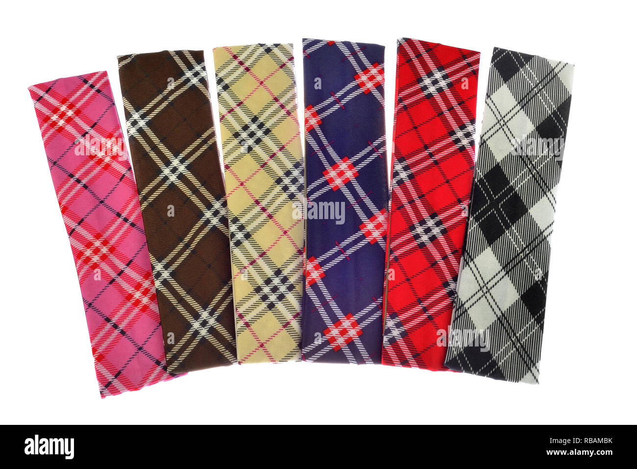 Lumberjack Plaid and Buffalo Check Patterns. Red, Black, White and Khaki Plaid, Tartan and Gingham Patterns. Trendy Hipster Style samples. - Stock Image