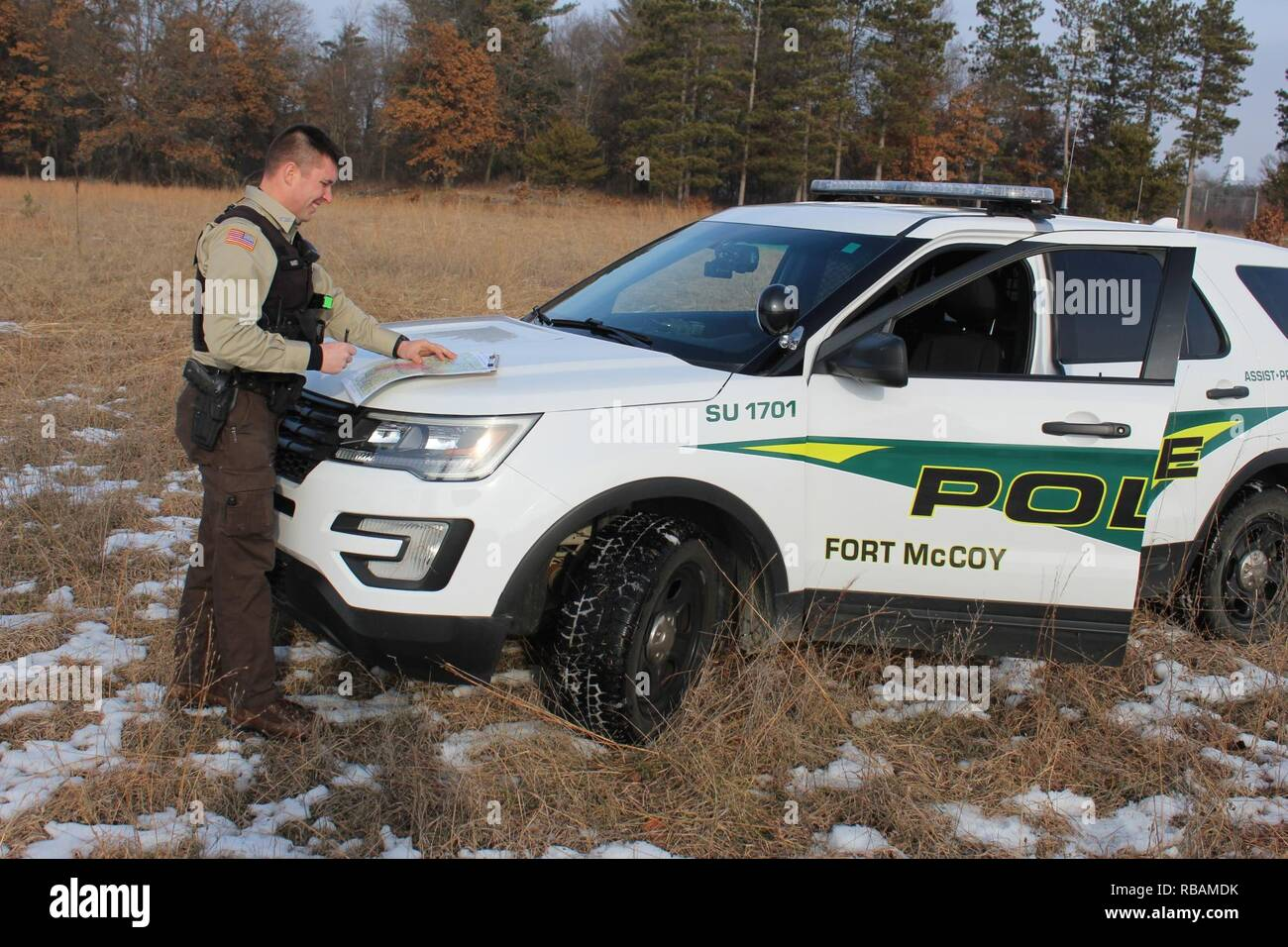 Game Warden Jesse Haney with the Directorate of Emergency