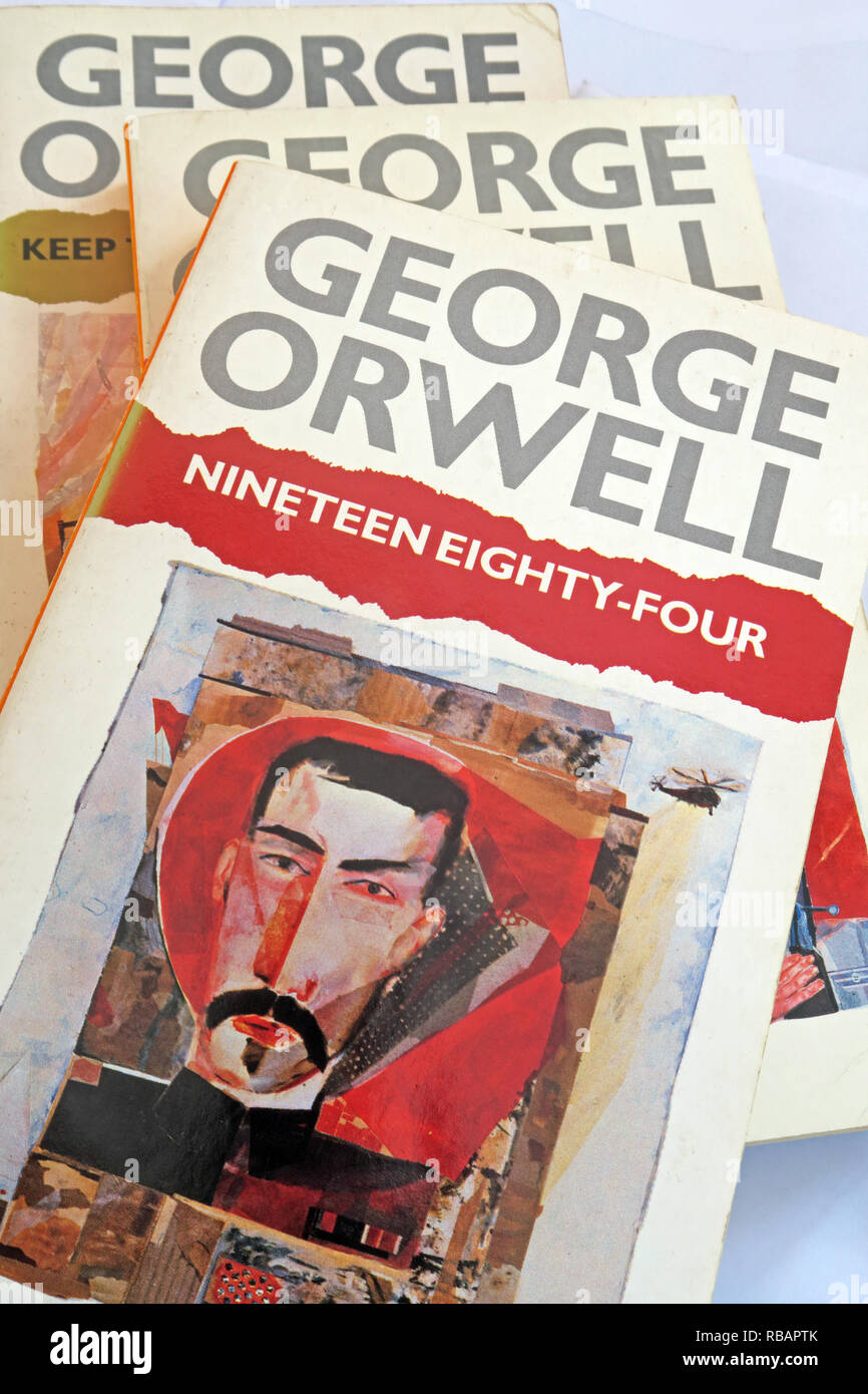 George Orwell 1984 Nineteen Eighty Four book quote, War Is Peace, Freedom Is slavery, Ignorance Is Strength, - Stock Image