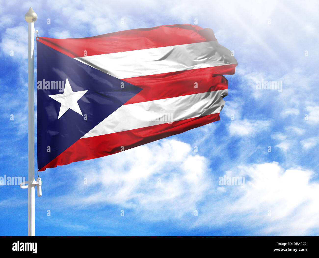 National Flag Of Puerto Rico Stock Photos National Flag Of