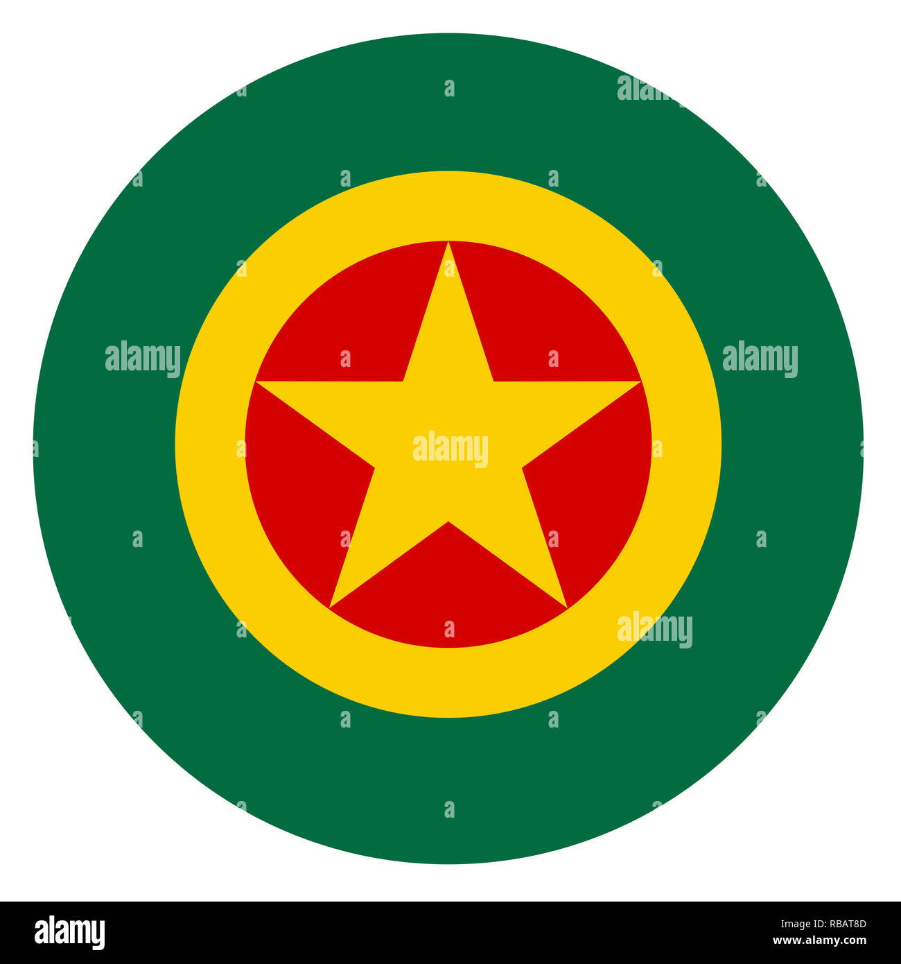 Ethiopia country roundel flag based round symbol - Stock Image