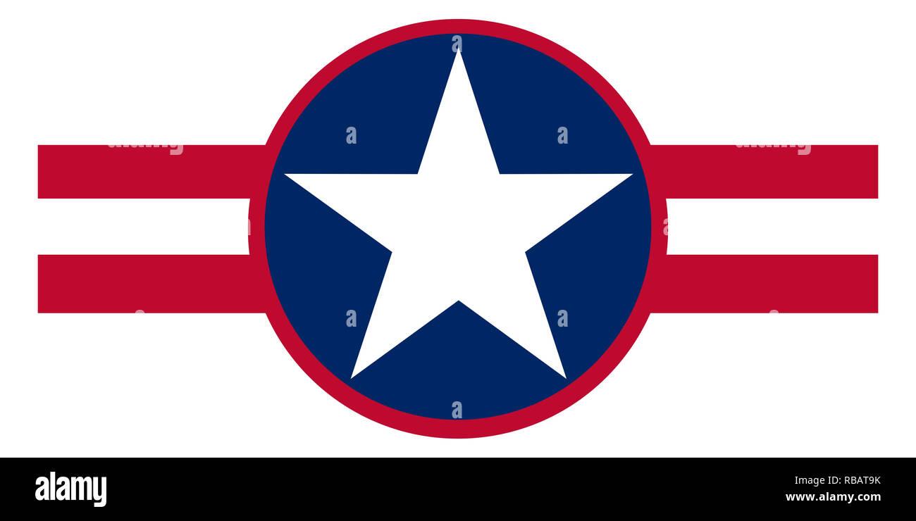 Liberia country roundel flag based round symbol - Stock Image