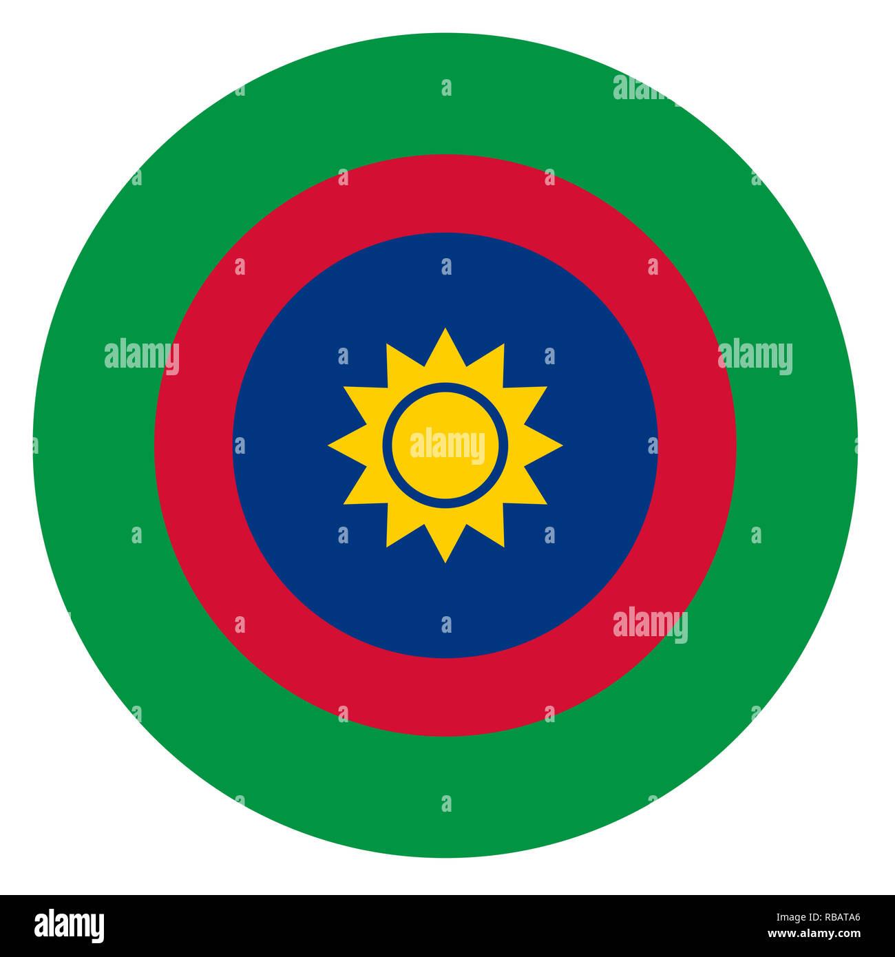 Namibia country roundel flag based round symbol - Stock Image