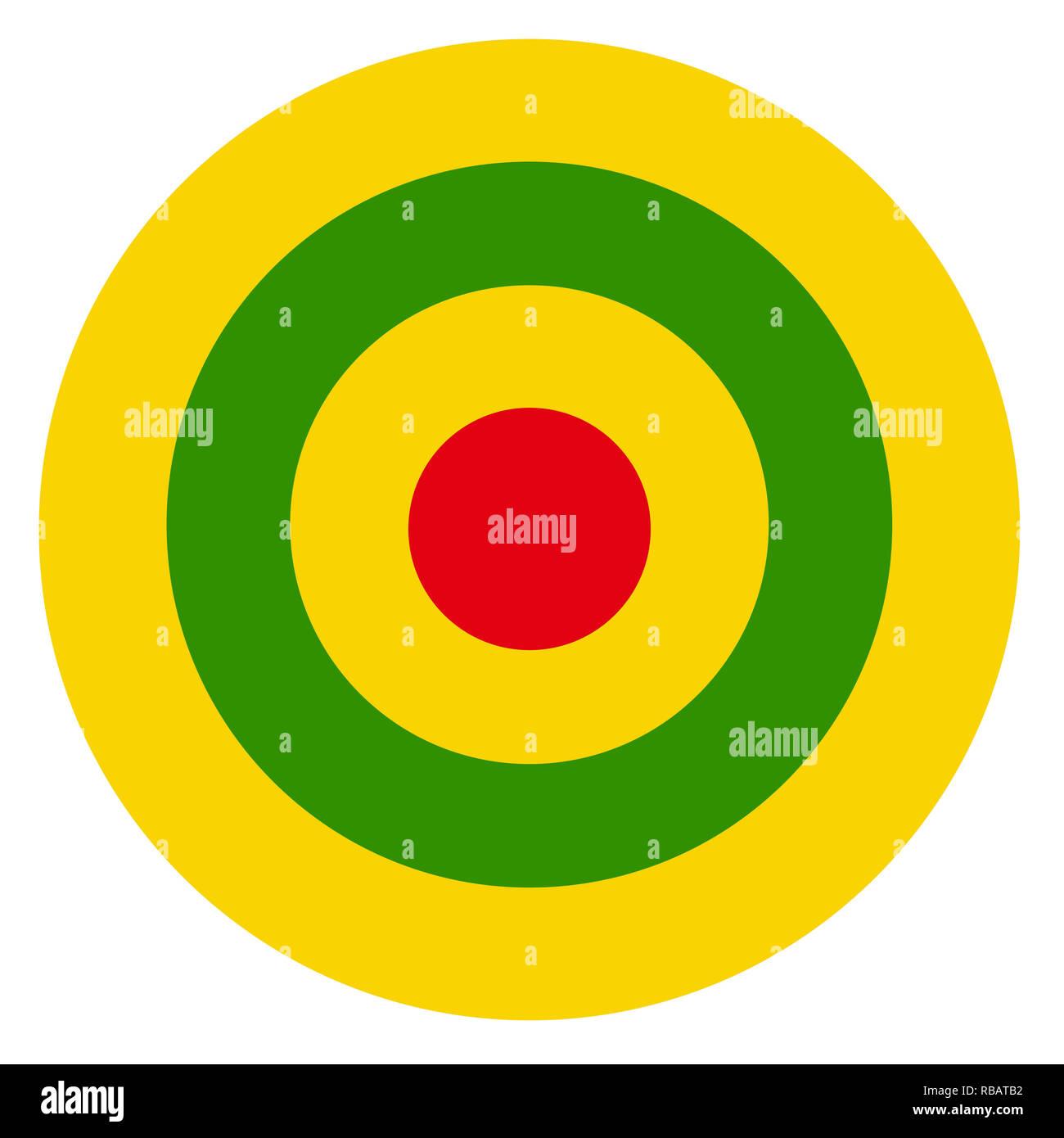 Rwanda country roundel flag based round symbol - Stock Image