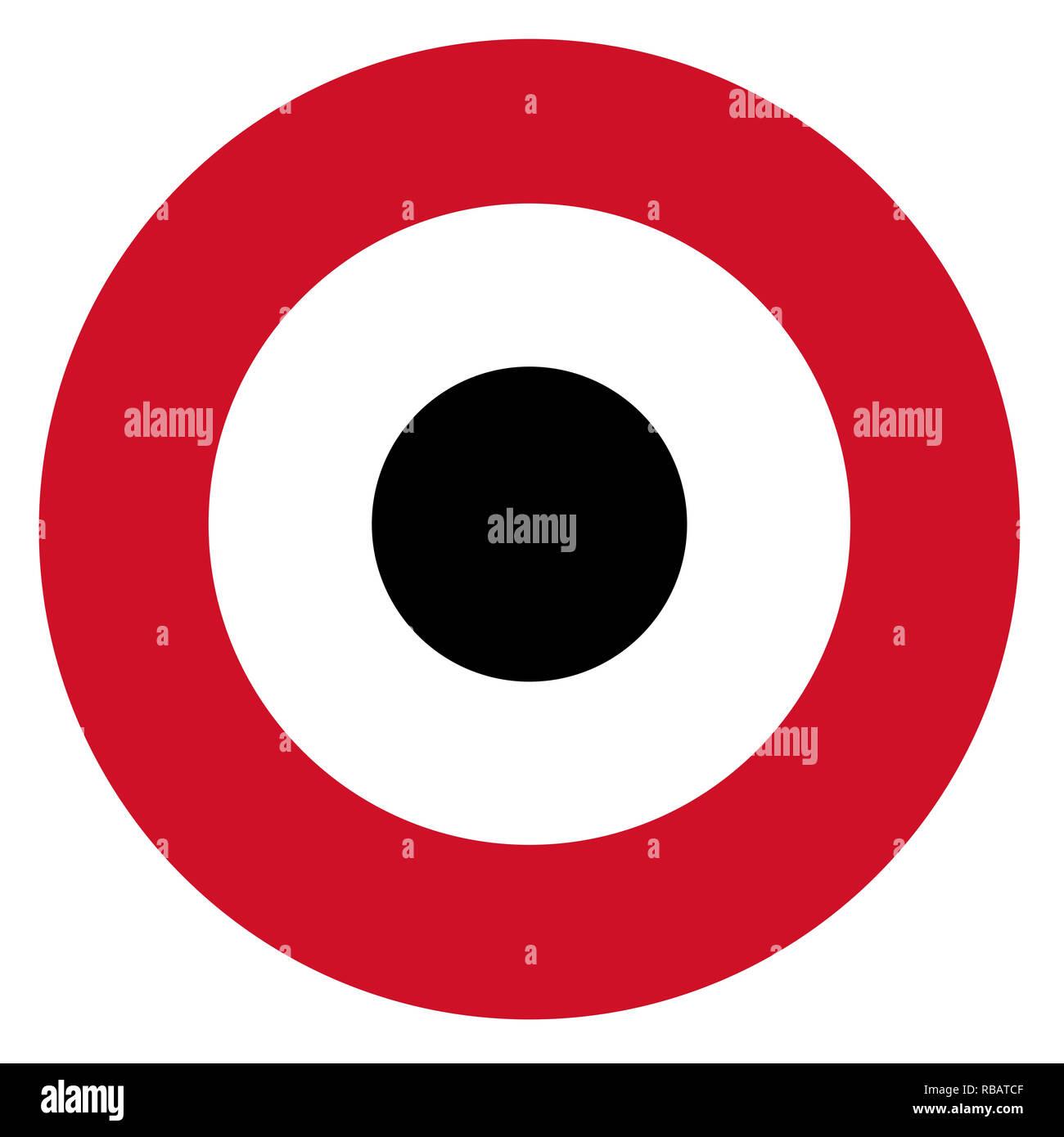 Yemen country roundel flag based round symbol - Stock Image