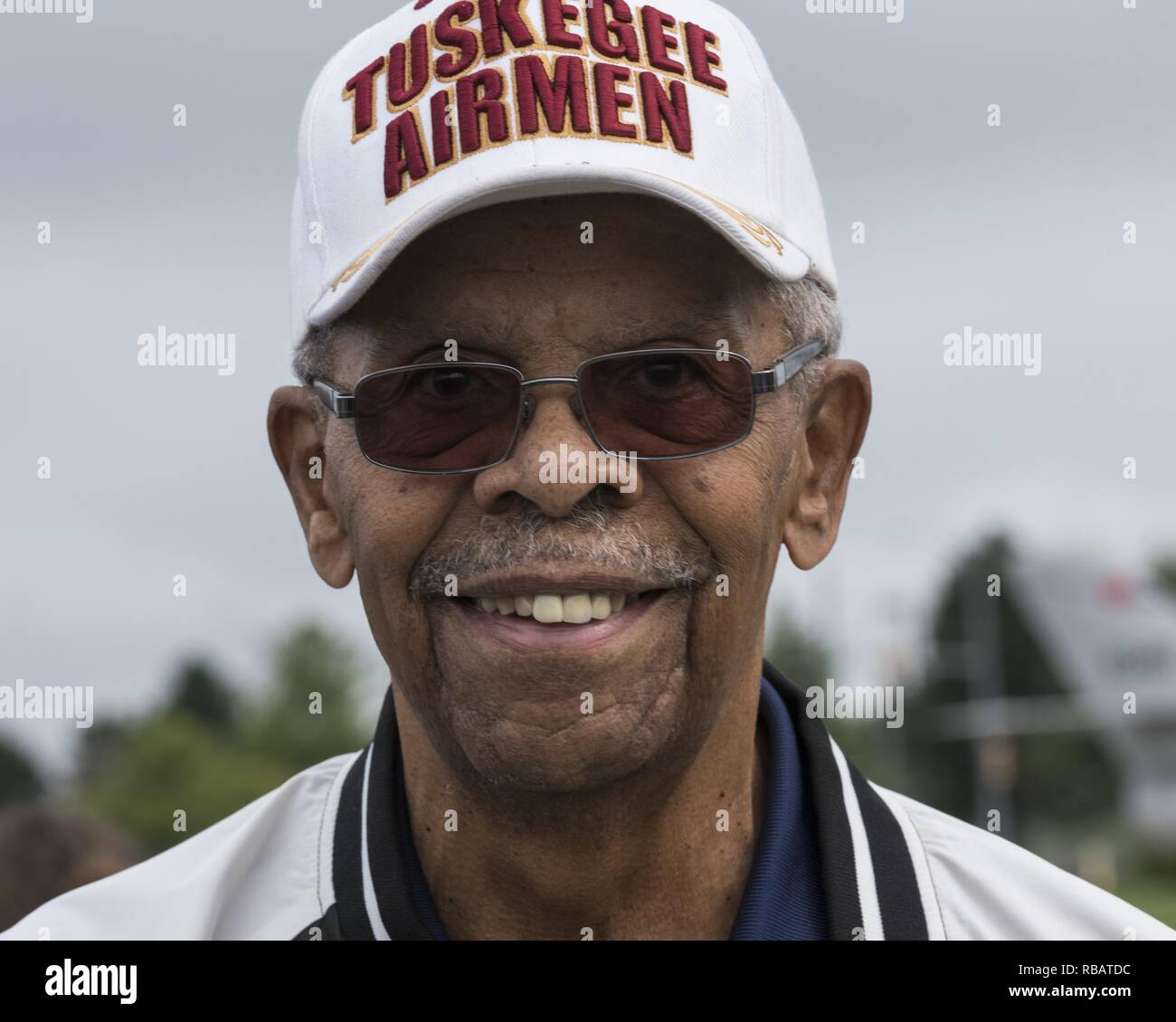 Portrait of the former crew chief with the Tuskegee Airman Donald Elder during a ceremony in honor of Staff Sgt Malvin Whitfield, Whitfield Track on Rickenbacker Air National Guard Base, Ohio, August 2, 2018. Image courtesy Airman 1st Class Tiffany Emery / 121st Air Refueling Wing Public Affairs. () - Stock Image