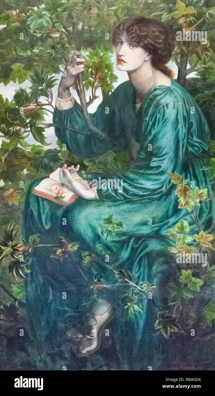 The day dream, Dante Gabriel Rossetti - Stock Image