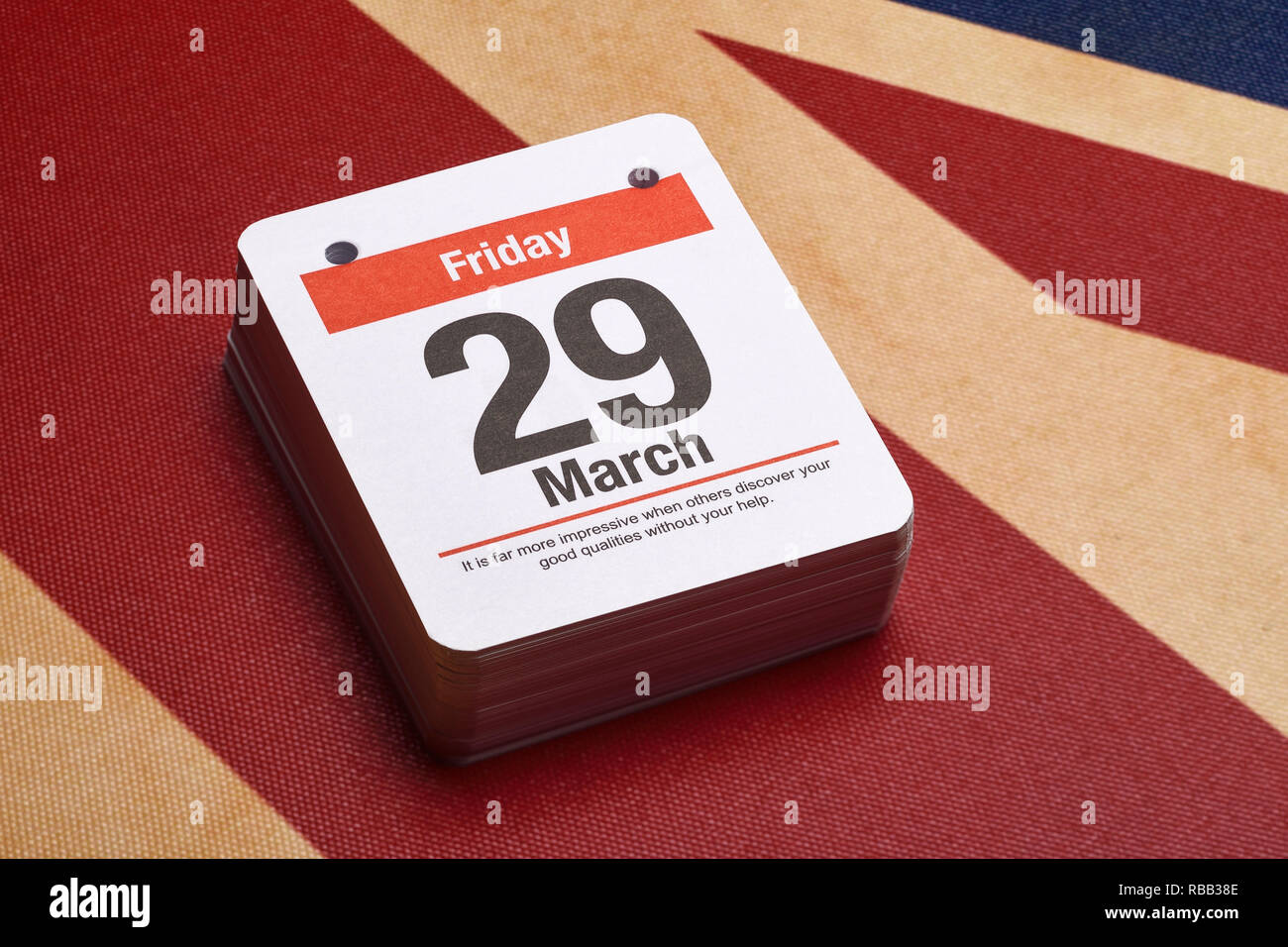 Friday March 29th 2019 is the scheduled date for the United Kingdom to leave the EU as part of Brexit - Stock Image