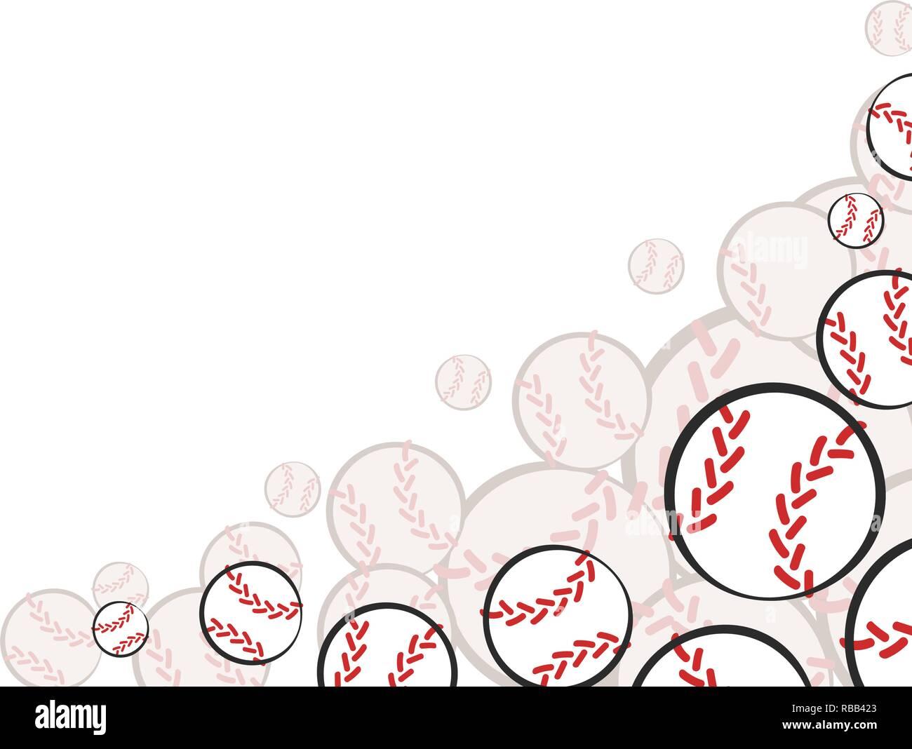 Bottom corner baseball sports game card decoration  Vector