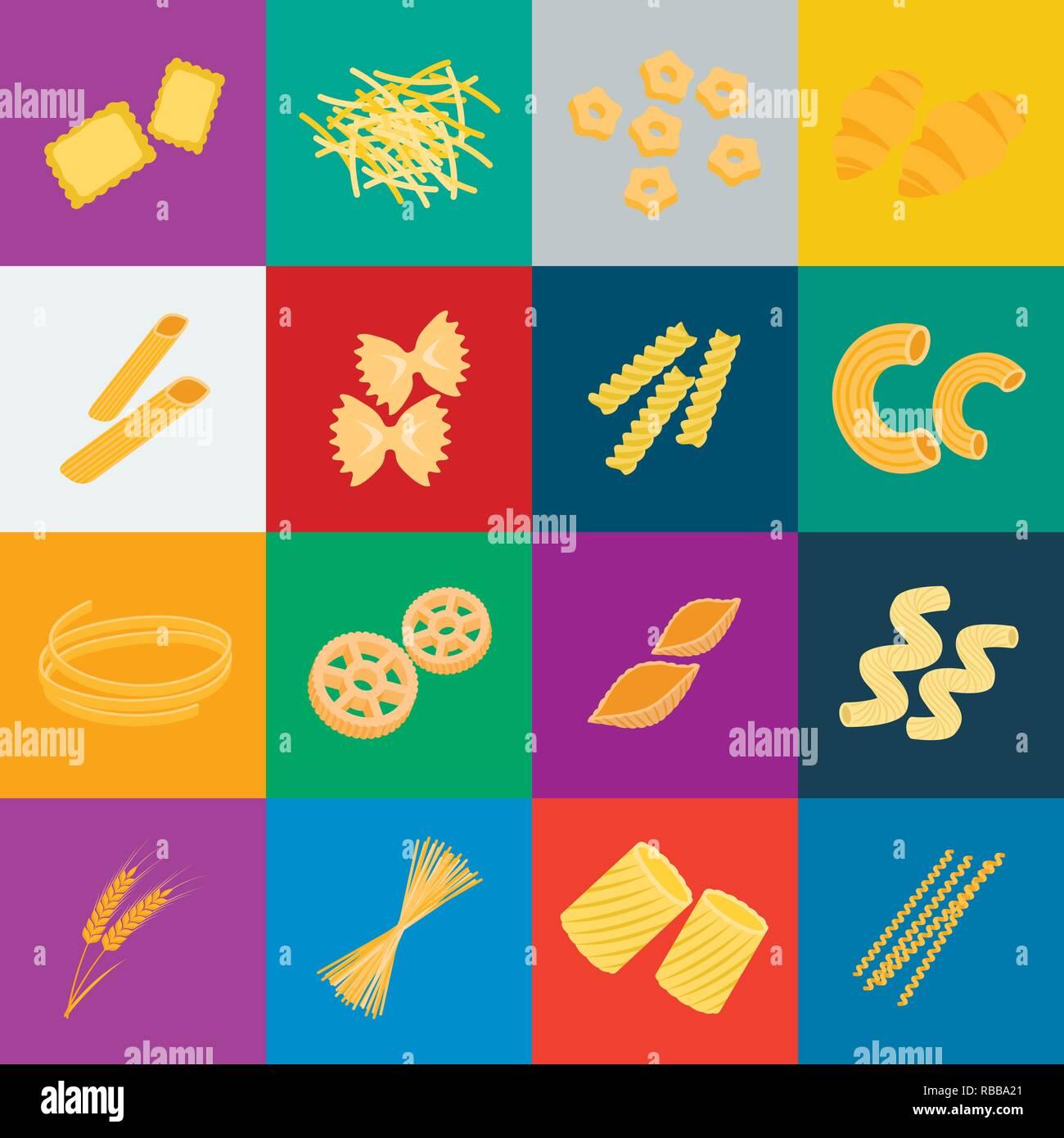 art,bucati,carbohydrate,cartoon,cavatappi,cereal,chifferi,collection,conchiglie,design,ditalini,dough,ears,farfalle,figured,filini,food,fusilli,gnocchi,icon,illustration,isolated,logo,macaroni,pasta,penne,product,ravioli,rigate,rotelle,set,shape,sign,spaghetti,stelline,symbol,tagliatelle,types,vector,web,wheat Vector Vectors , Stock Vector