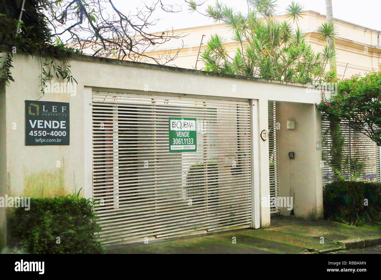 House for sale in Sao Paulo. Brazil - Stock Image