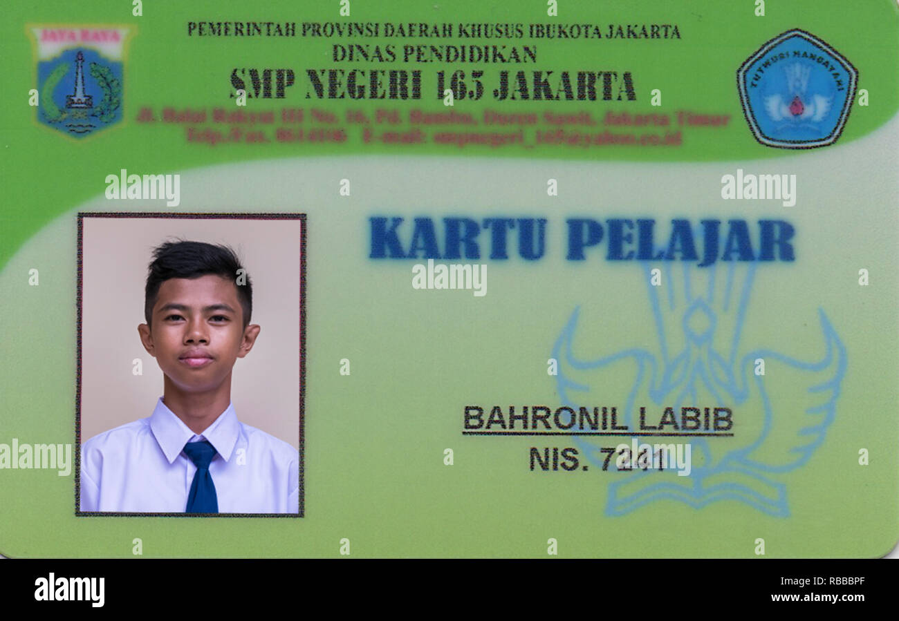 2.20A, ID card, IndonesianBook - Stock Image