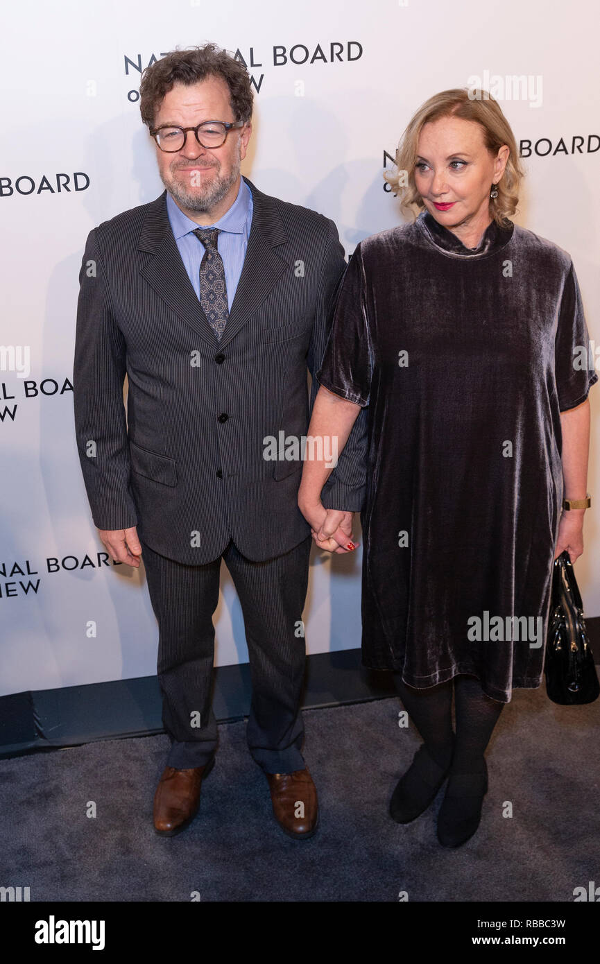 Kenneth Lonergan and J. Smith-Cameron attend National Board of Review 2019 Gala at Cipriani 42nd street (Photo by Lev Radin/Pacific Press) - Stock Image