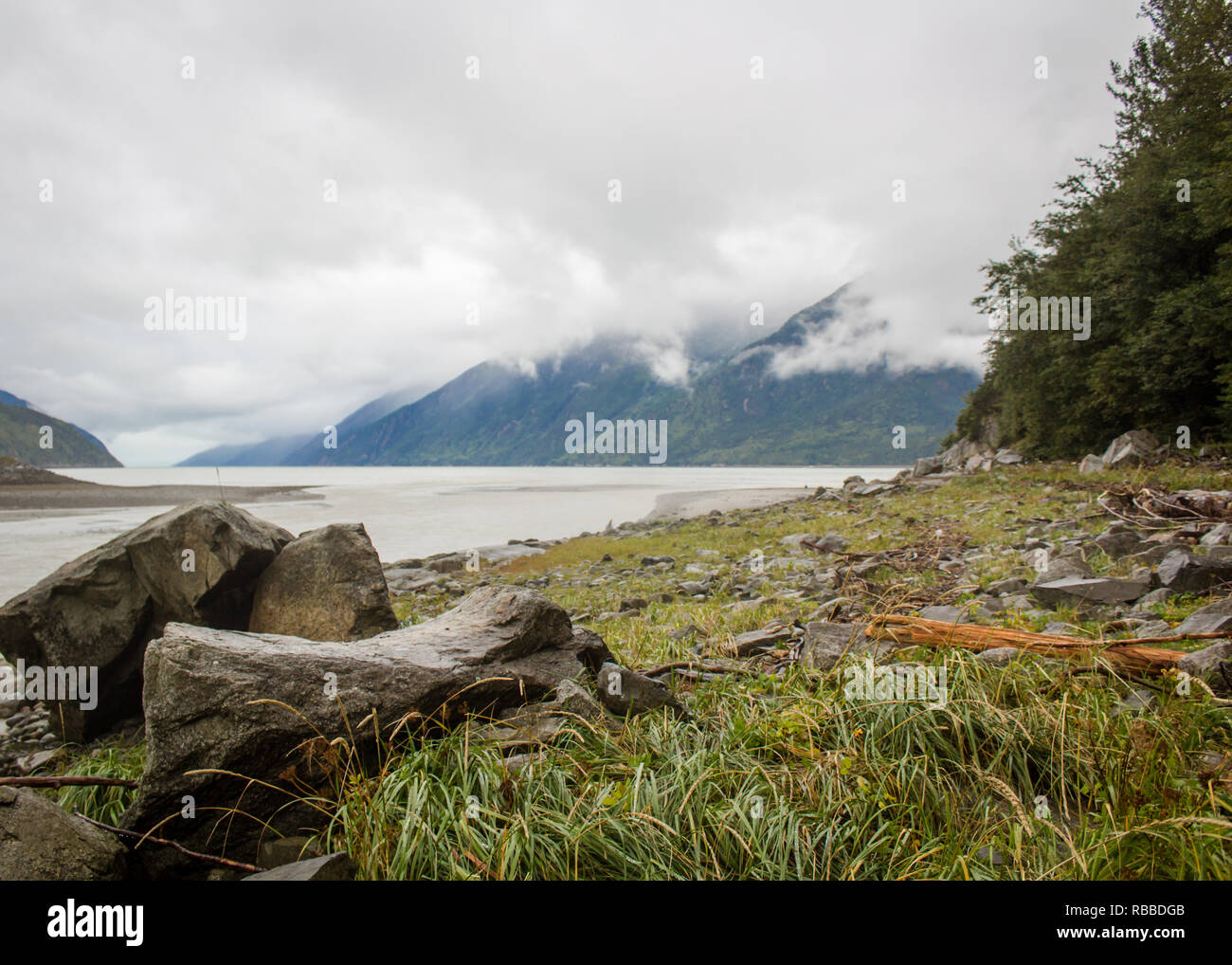 Looking out from Skagway - Stock Image