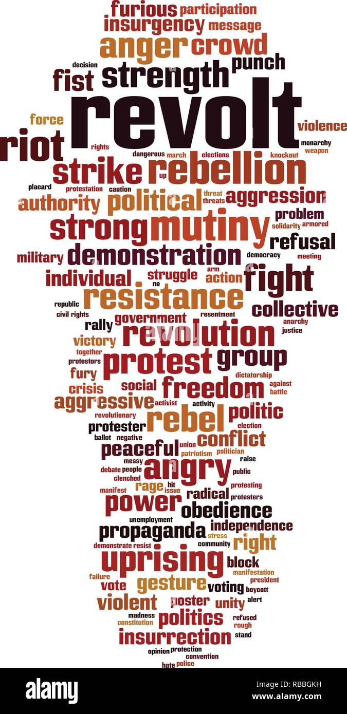 Revolt word cloud concept. Vector illustration - Stock Vector