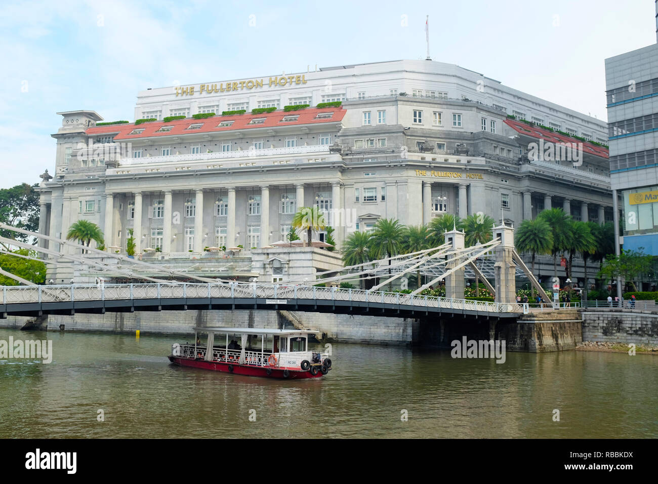 The Fullerton Hotel, Singapore, Asia. - Stock Image