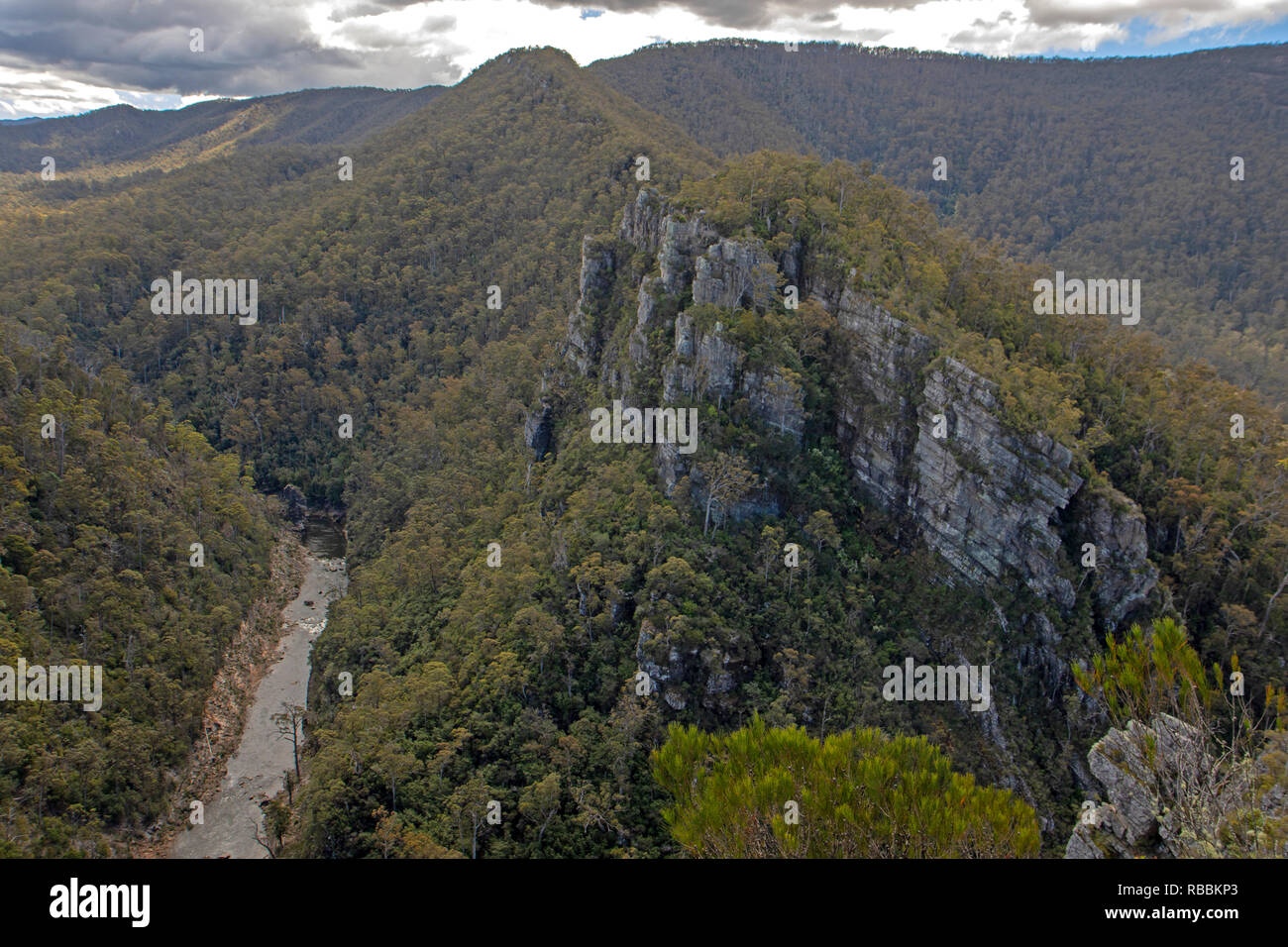 The Alum Cliffs above the Mersey River - Stock Image