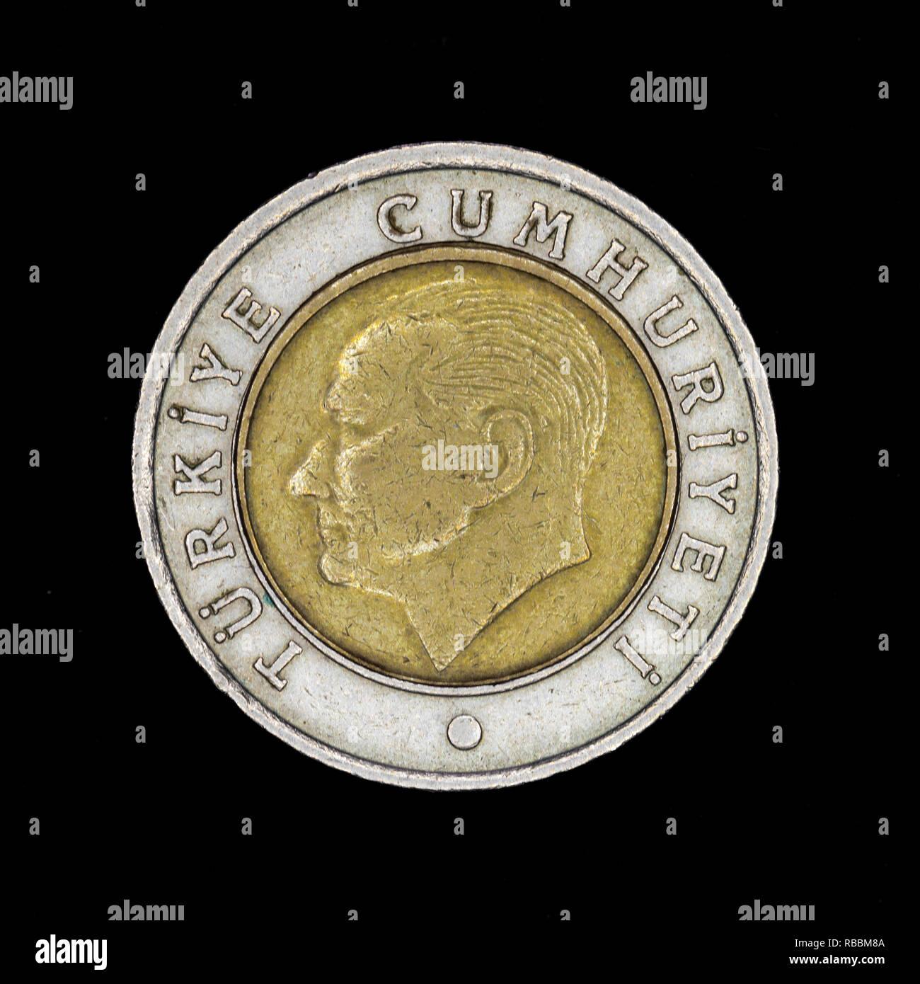 Turkish metal coin Stock Photo
