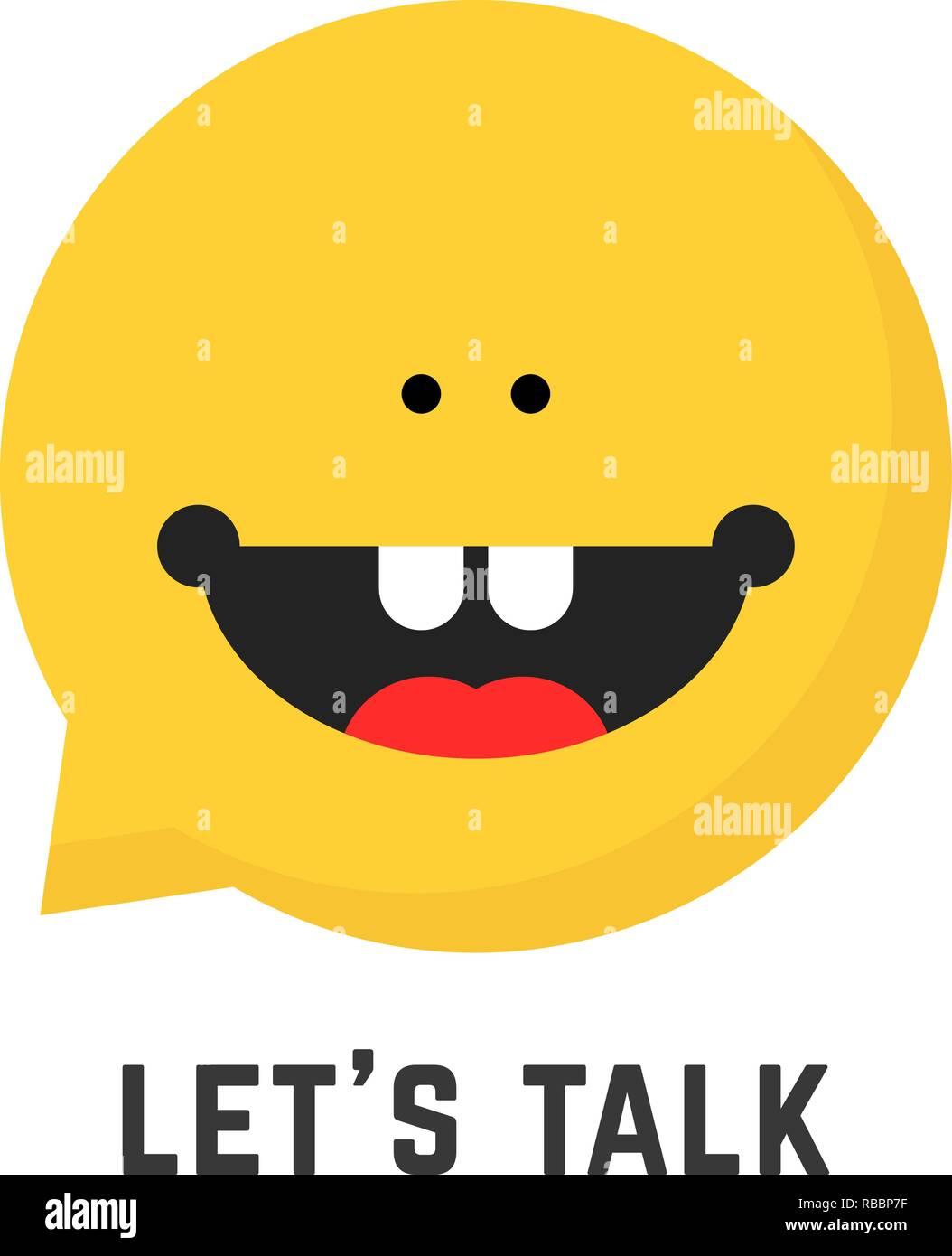 childish speech therapist logo - Stock Image