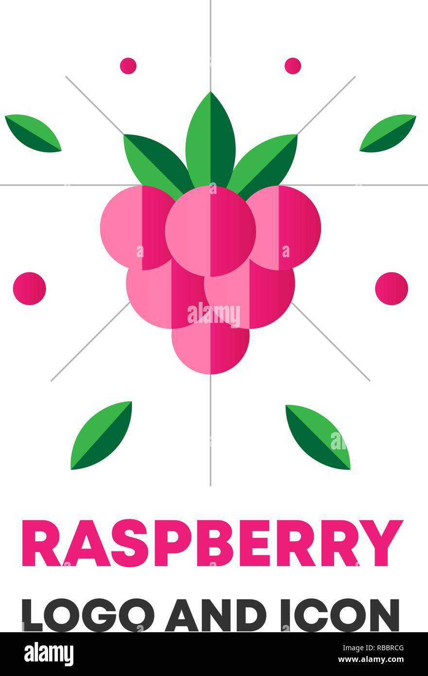 Raspberry Icon Logo Berry Vector Illustration Flat Raspberry Icon Logo For Web Design Package Abstract Flat Raspberry Icon Logo For Menu Flat Berry Vector Illustration Raspberry Icon Logo Stock Vector Image