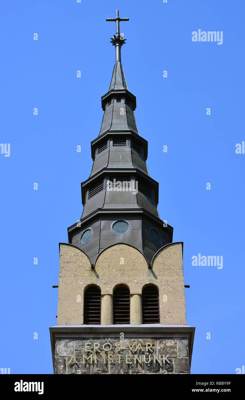 Lutheran Church in Budafok, Budapest. Evangélikus templom Budafokon, Budapesten. Hungary - Stock Image