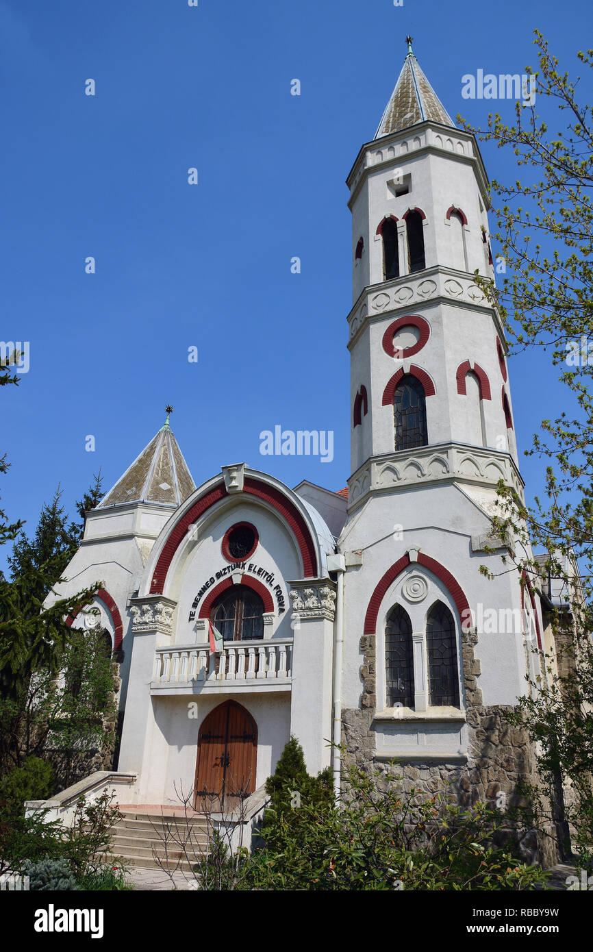 Reformed church in Budafok, Budapest. Református templom Budafokon, Budapesten. Hungary - Stock Image
