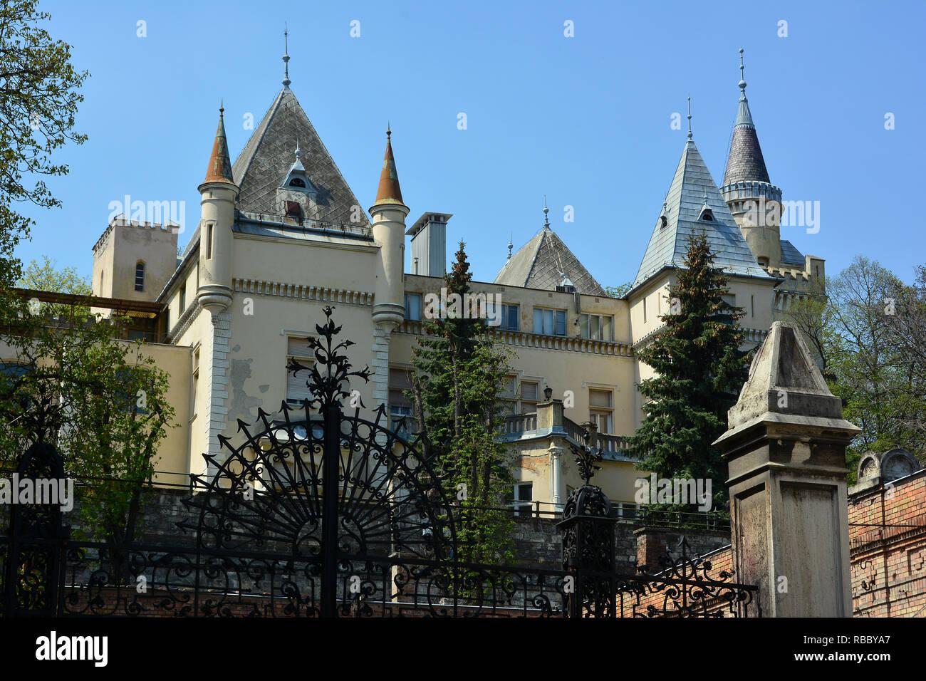 The Törley Castle in Budafok, Budapest XXII. district., A Törley-kastély Budafokon, Budapest XXII. kerületében. - Stock Image