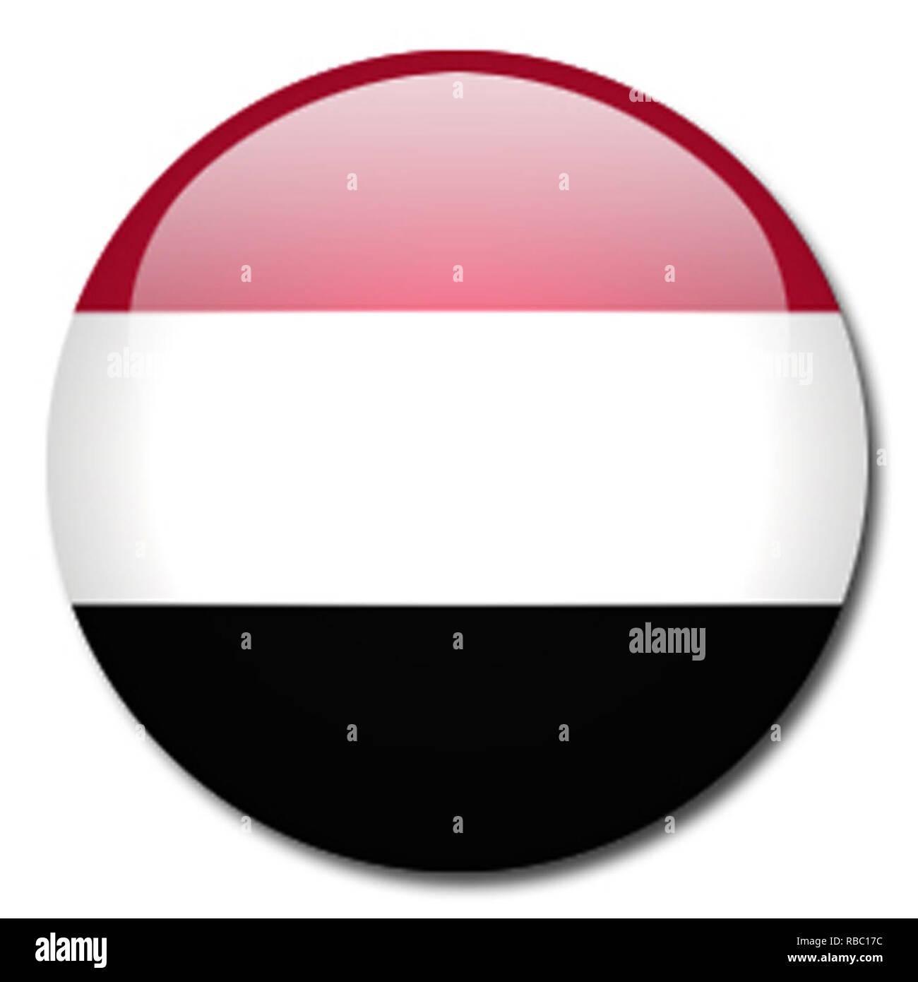 yemen flag - Stock Image