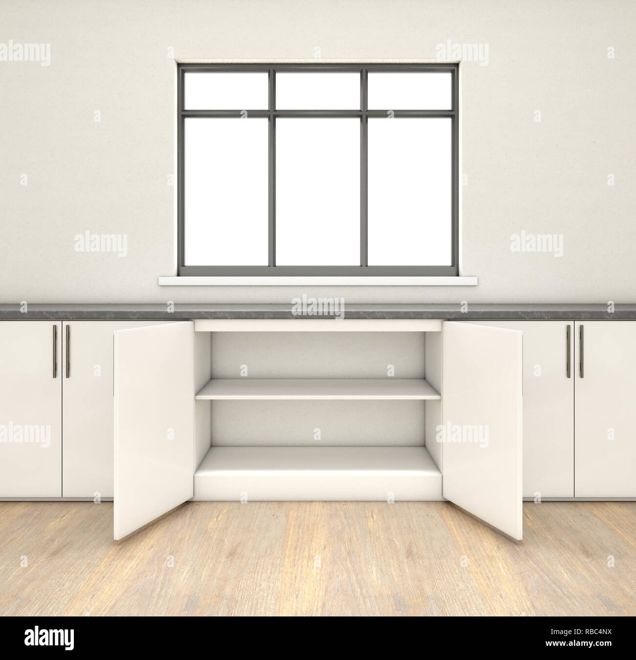 Empty Kitchen Cupboard: Open Kitchen Cabinet Empty Stock Photos & Open Kitchen