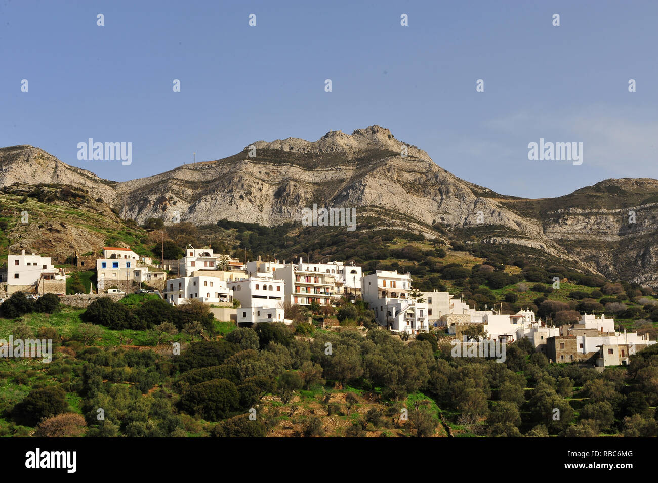 Traditional village on Naxos island, Cyclades, Greece - Stock Image