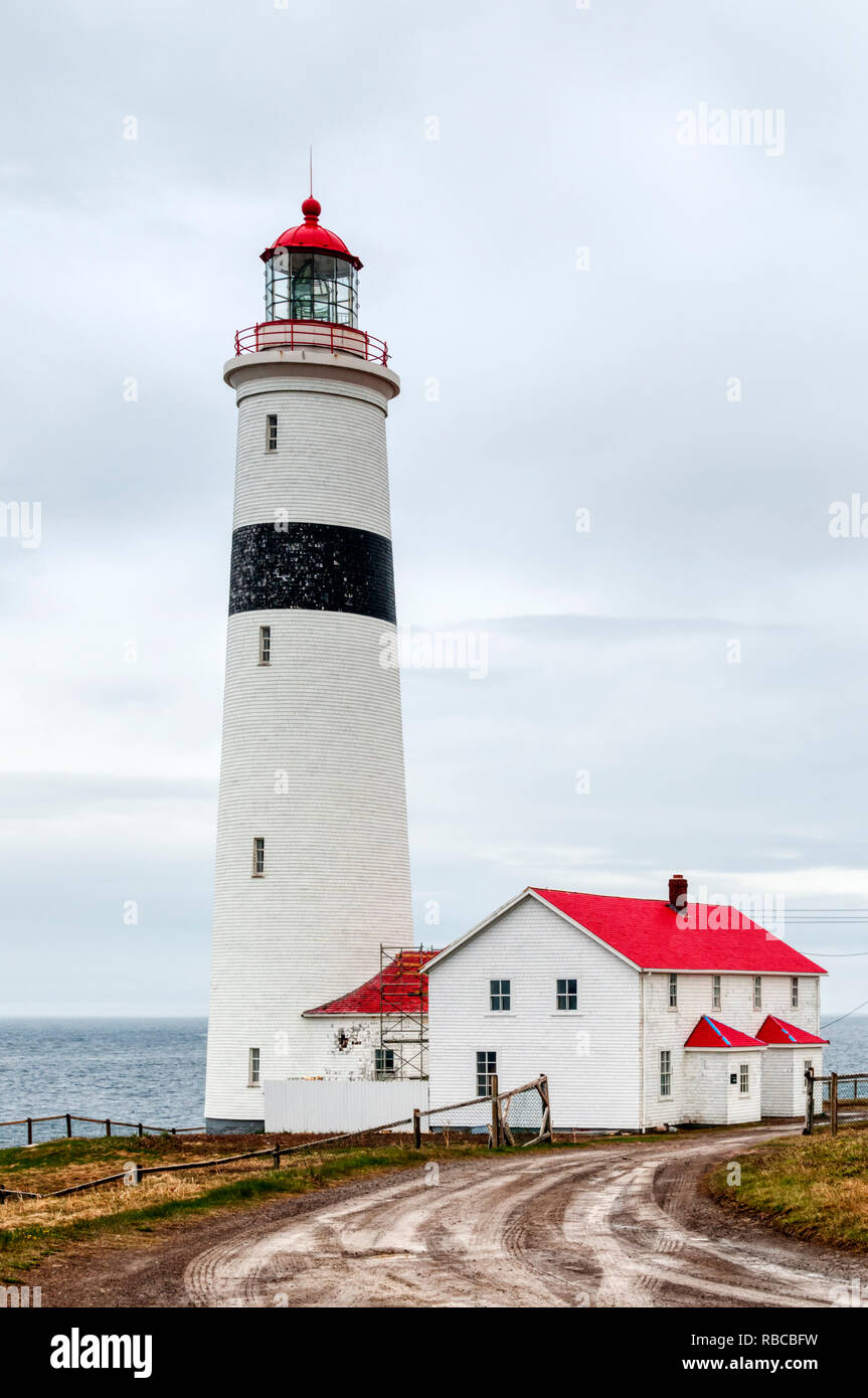 Point Amour Lighthouse in Labrador, Canada. - Stock Image