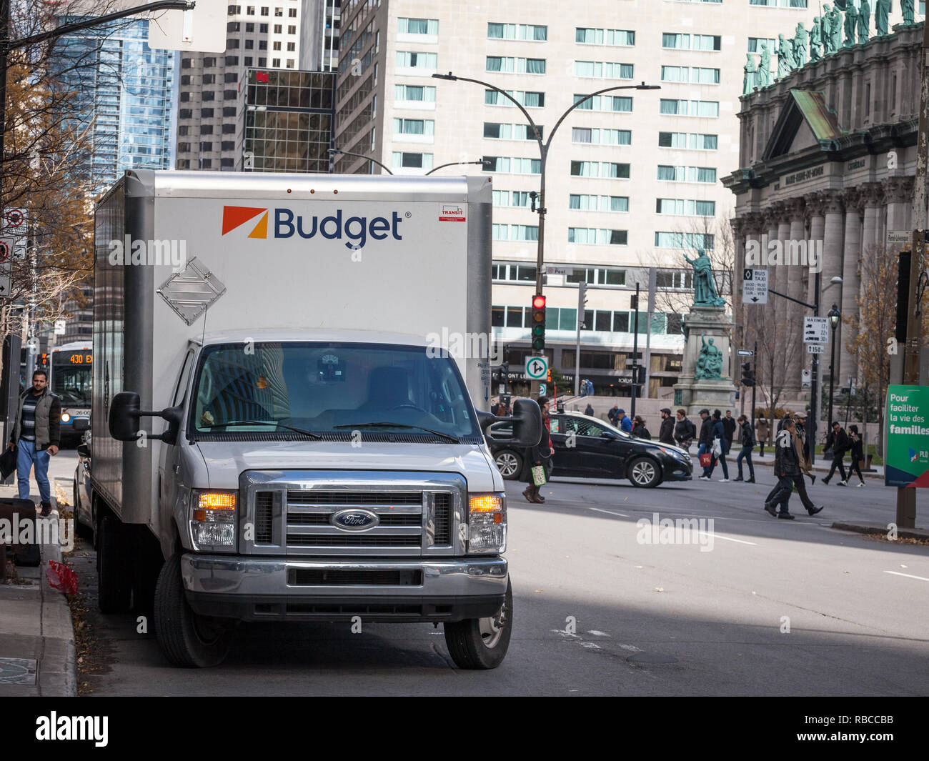 Montreal Canada November 7 2018 Middle Size Truck With