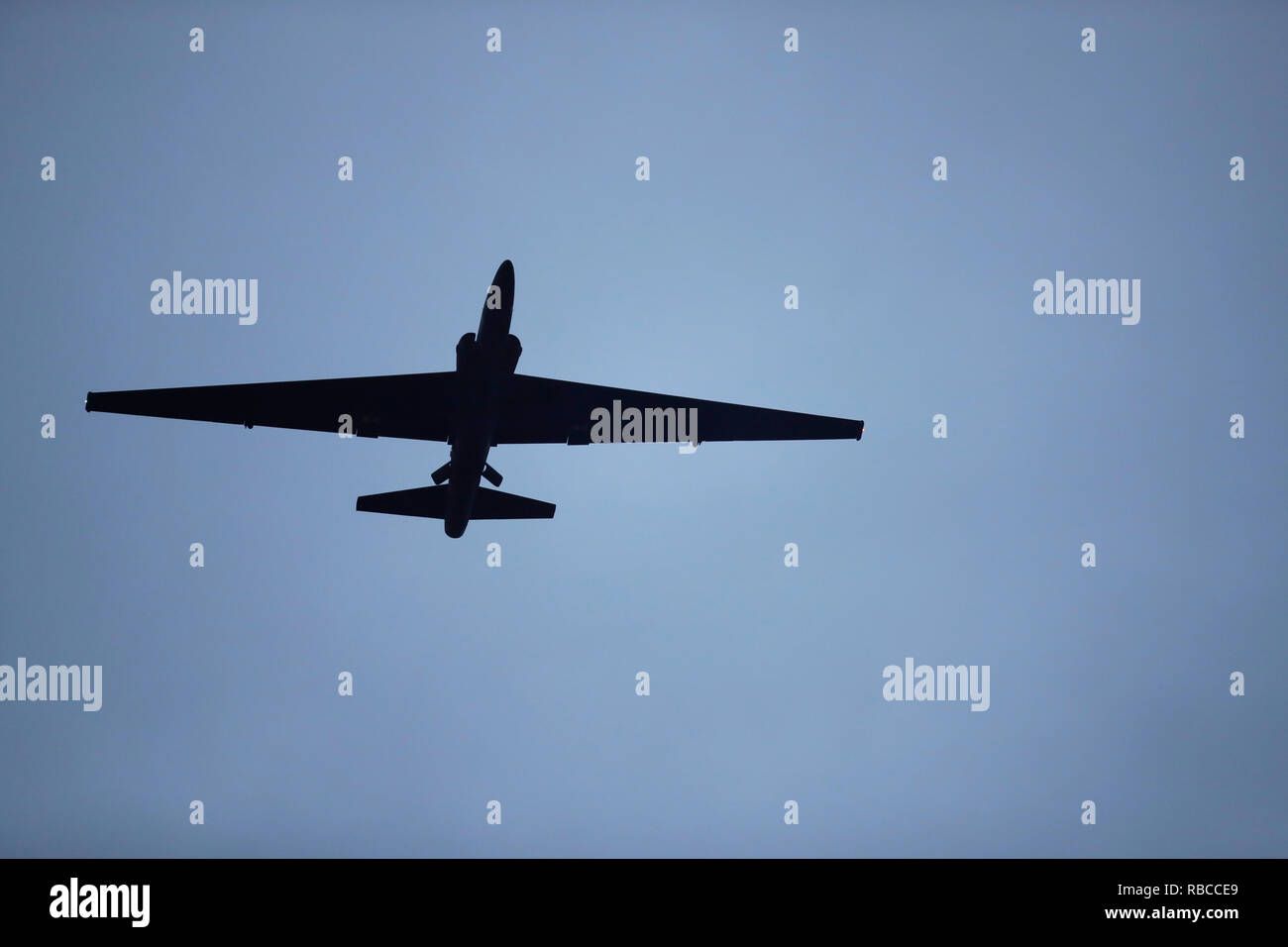 A U2 from Beale Air Force Base - Stock Image