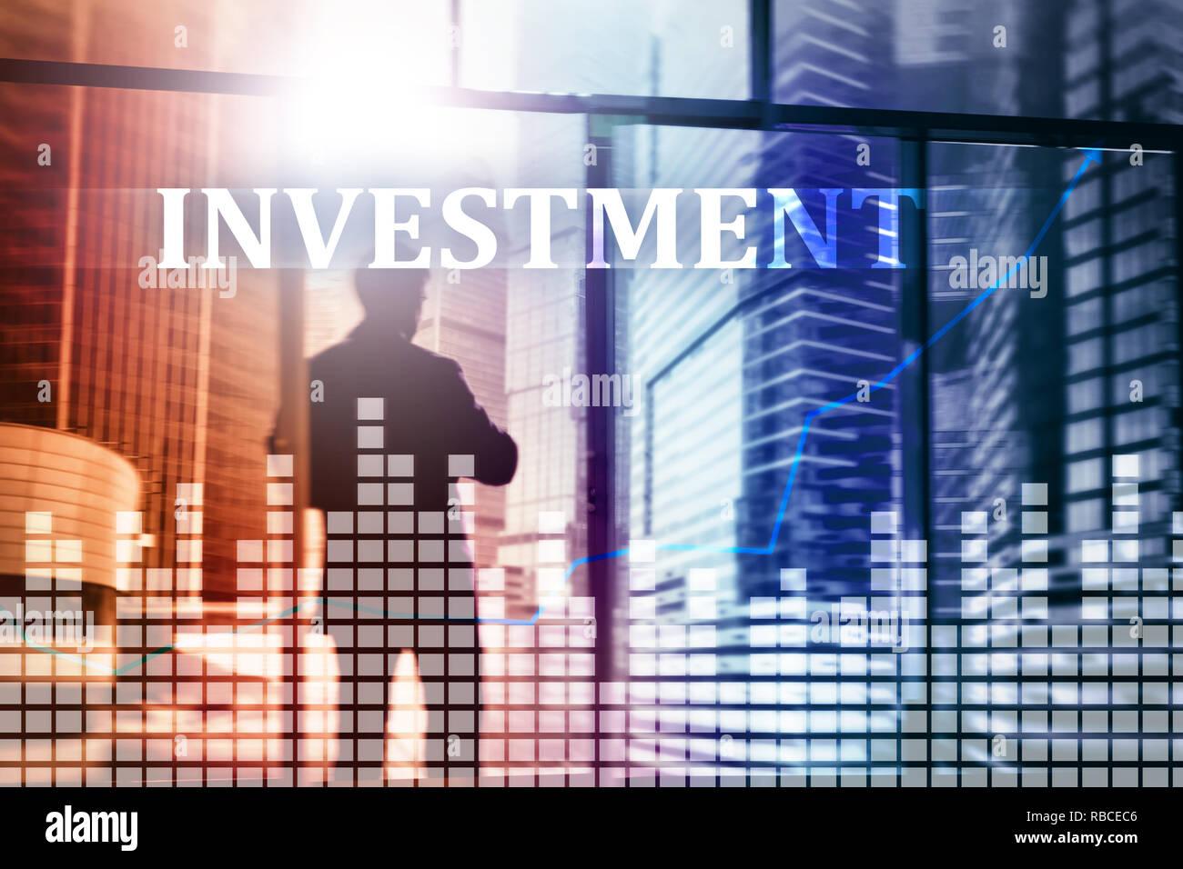 Investment, ROI, financial market concept mixed media Stock Photo