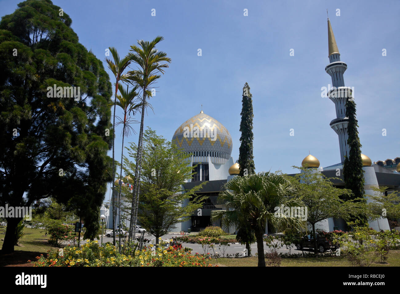 State Mosque, Kota Kinabalu, Sabah (Borneo), Malaysia - Stock Image
