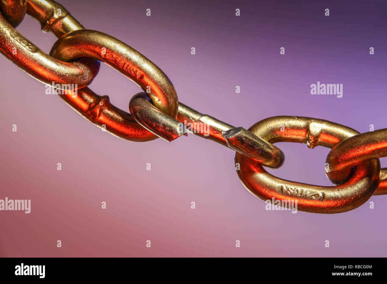 Weak Link in a Chain - Stock Image