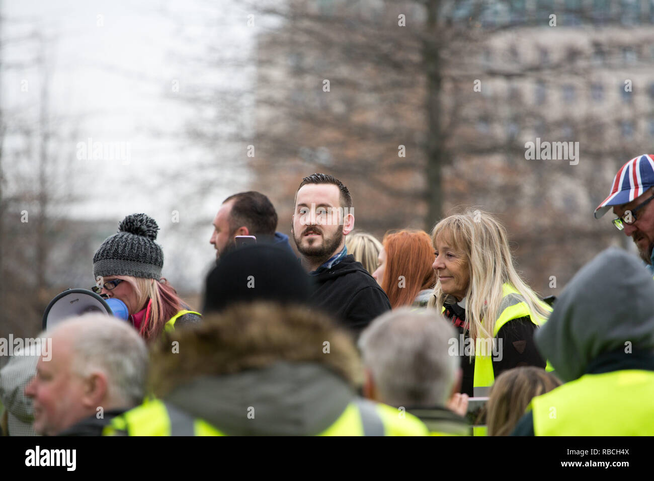 James Goddard at Yellow Vest pro Brexit Demonstartion - Stock Image