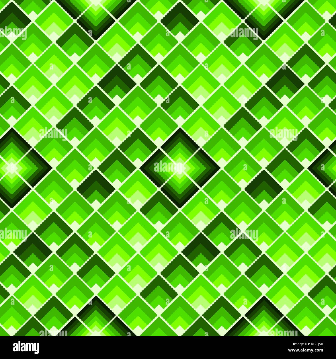 Rectangles or lozenges seamless pattern in trendy neon lime color - Stock Vector
