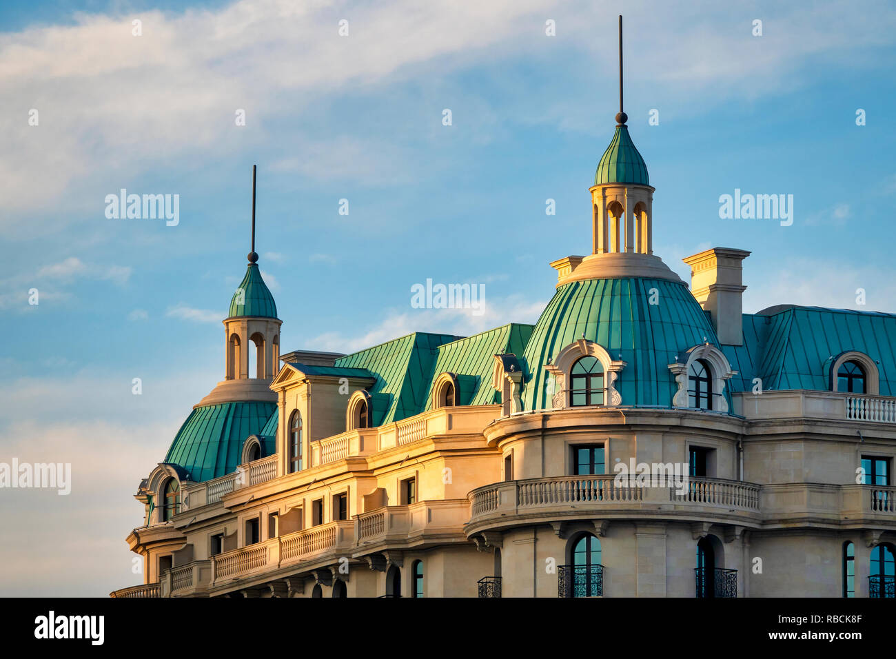 Traditional Baku architecture, Baku Azerbaijan - Stock Image