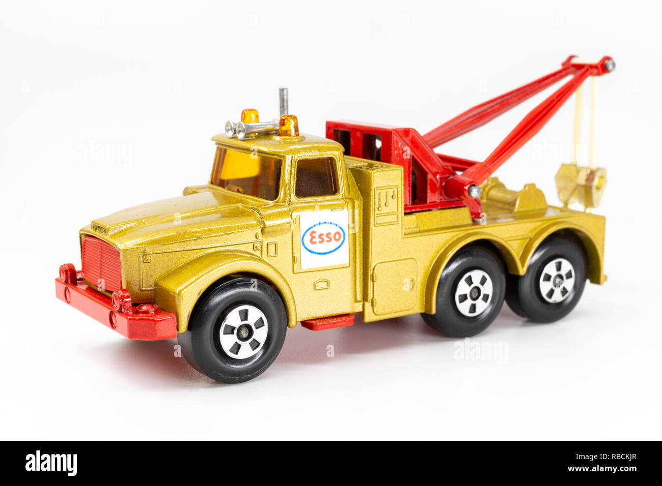 Matchbox model of heavy wreck truck, Super Kings K-2. Front view. - Stock Image