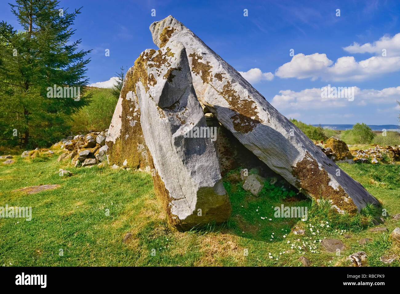 Ireland, County Cavan,  Cavan Burren Park, The Calf House Dolmen. - Stock Image